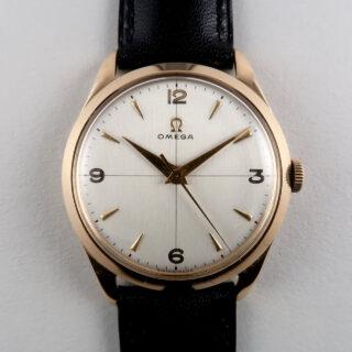 Omega Cal. 283 hallmarked 1952 | 18ct gold manual vintage wristwatch