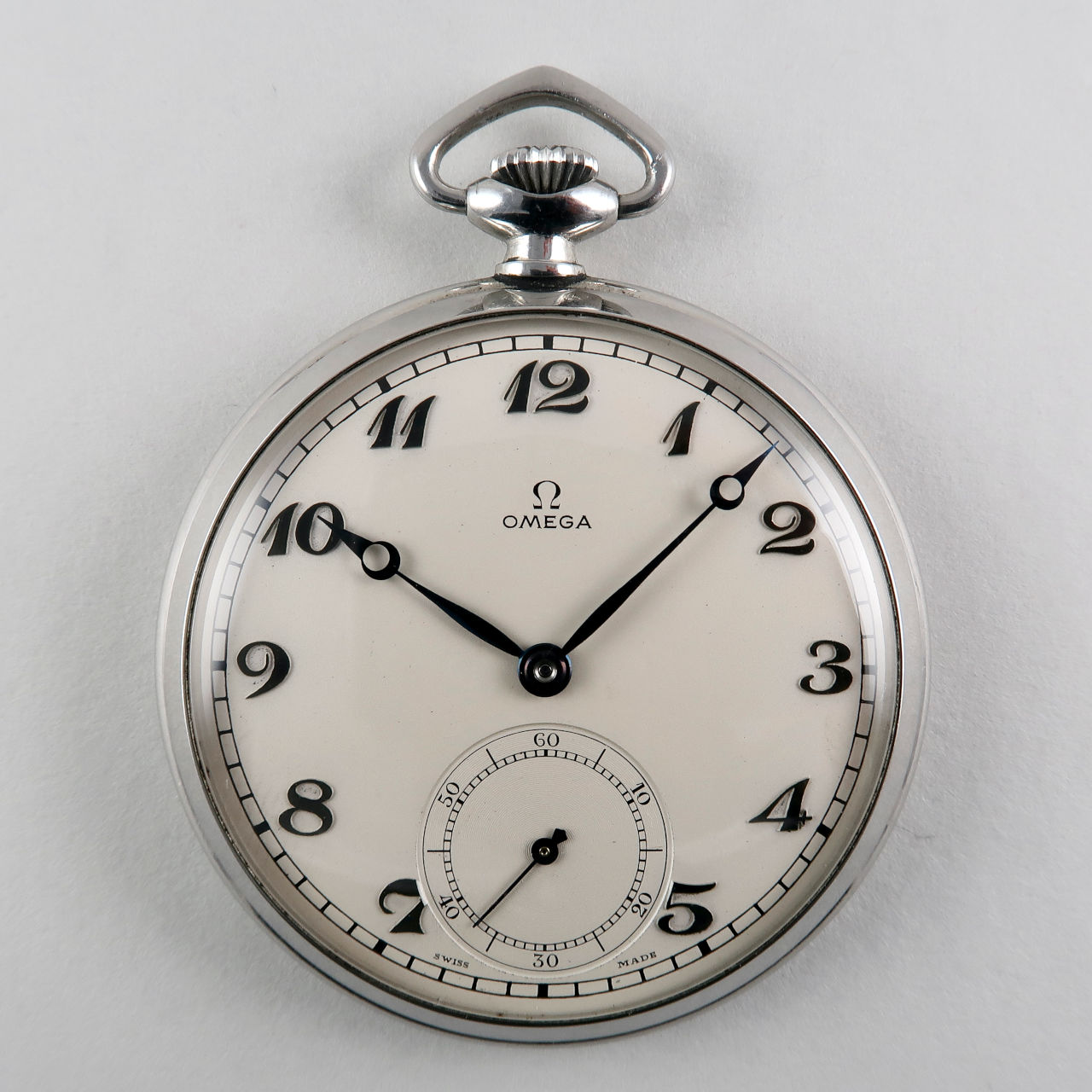 Omega cal.38.5L T1 circa 1938 | steel hand wound vintage pocket watch