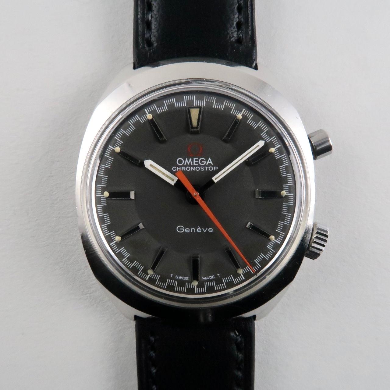 Omega Chronostop Ref. 145.009 steel vintage wristwatch, circa 1968