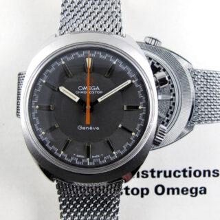 Omega Chronostop Ref. 145.009 steel vintage wristwatch, sold in 1969