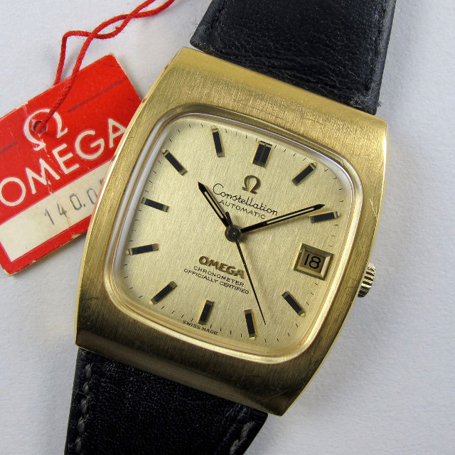 84d32982557 Omega Constellation Ref. 168.044 gold capped   steel vintage wristwatch