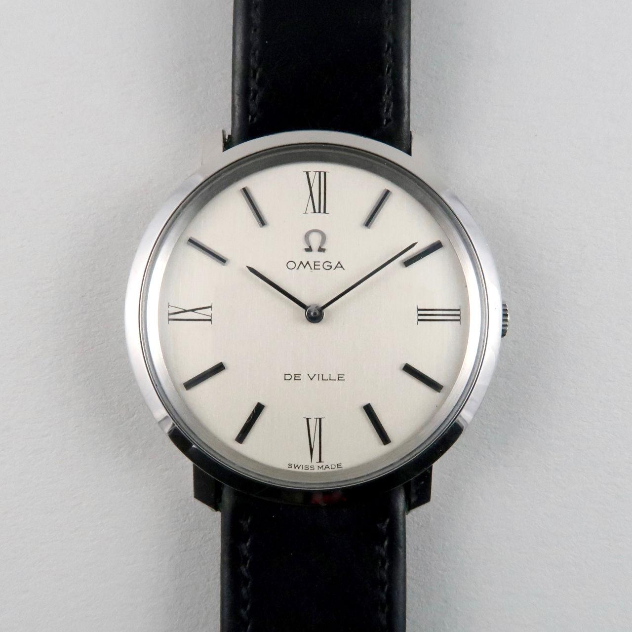 Omega de Ville Ref. 111.077 steel vintage wristwatch, circa 1968