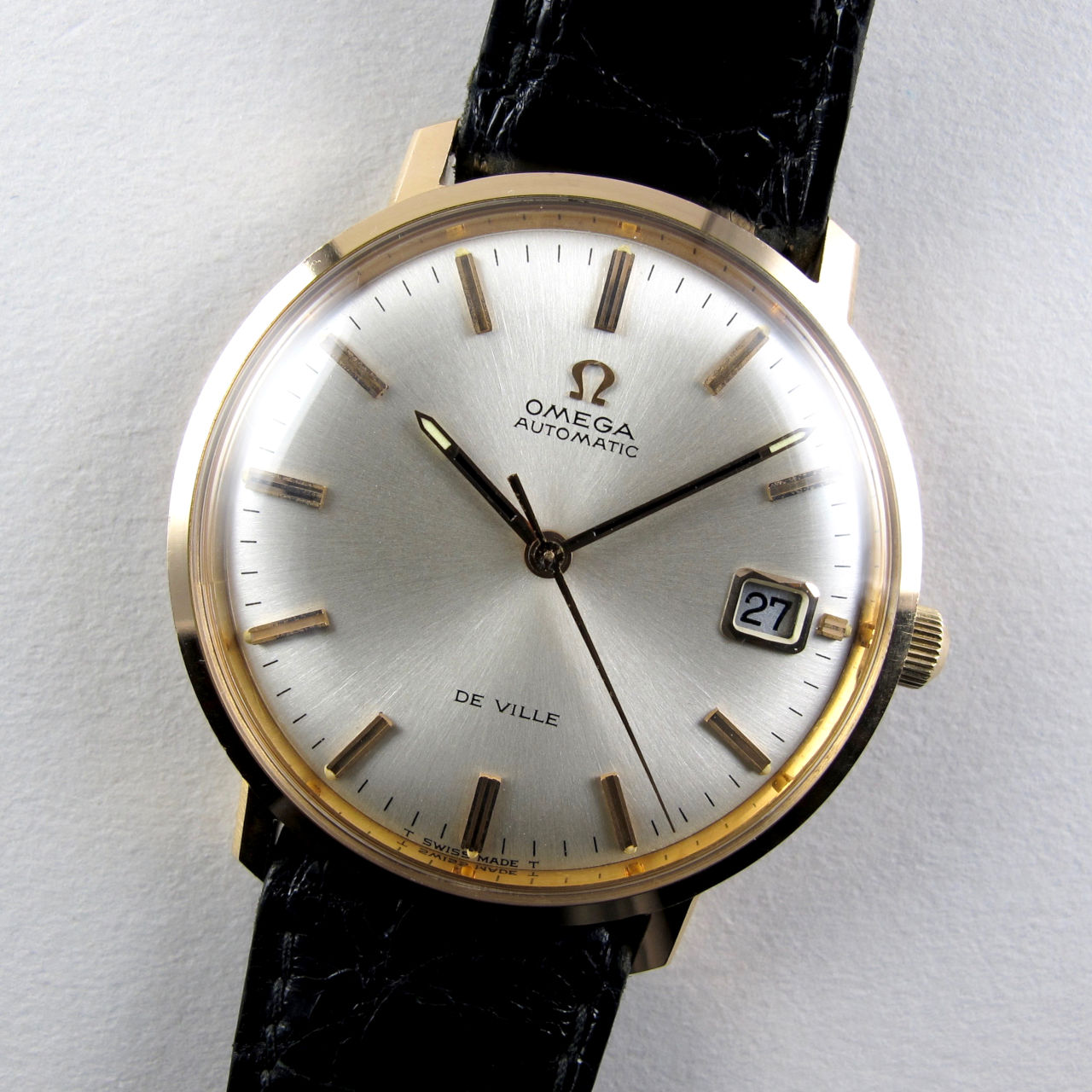 Omega De Ville Ref. 166.3033 18ct pink gold vintage wristwatch, circa 1968