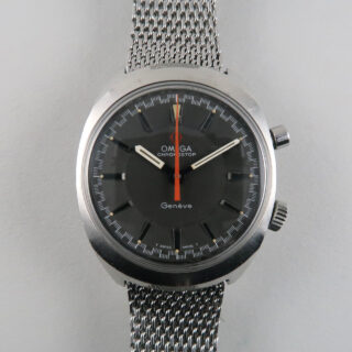Omega Genève Chronostop Ref. 145.009 steel vintage wristwatch