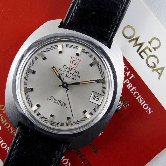 Omega Genève Electronic F300 Hz Chronometer Ref. 198.030, sold in 1974