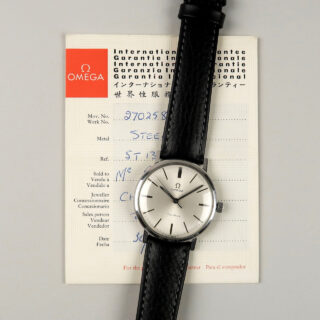 Omega Genève Ref. 131.019 circa 1968   steel manual vintage wristwatch with original box and papers