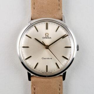 Omega Genève Ref. 131.019 circa 1969   steel hand wound vintage wristwatch