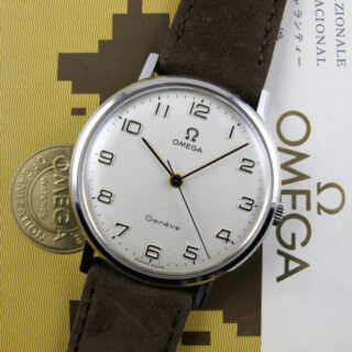 Omega Genève Ref. 131.019 steel vintage wristwatch, sold in 1971