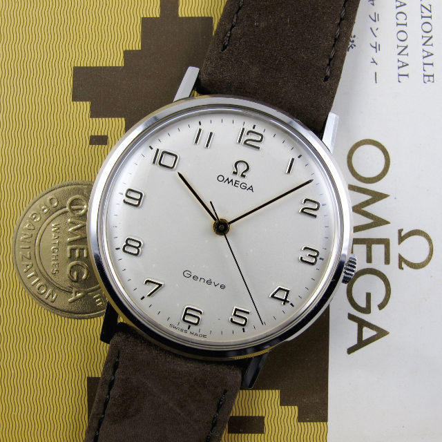 Omega Genève Ref. 131.019 steel vintage wristwatch, sold in 1971
