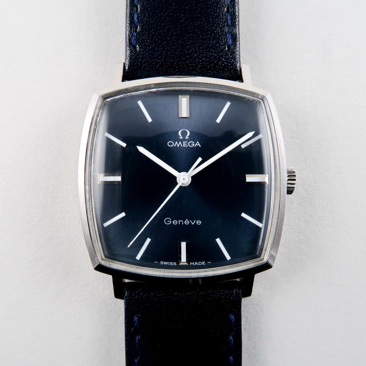 Omega Genève Ref. 131.022 circa 1970 blue dial