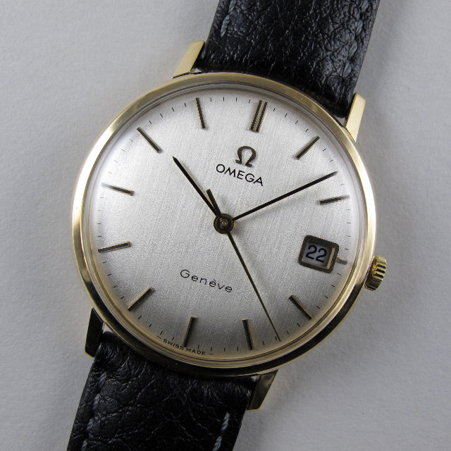 Omega Genève Ref. 131.5016 gold vintage wristwatch, hallmarked 1973