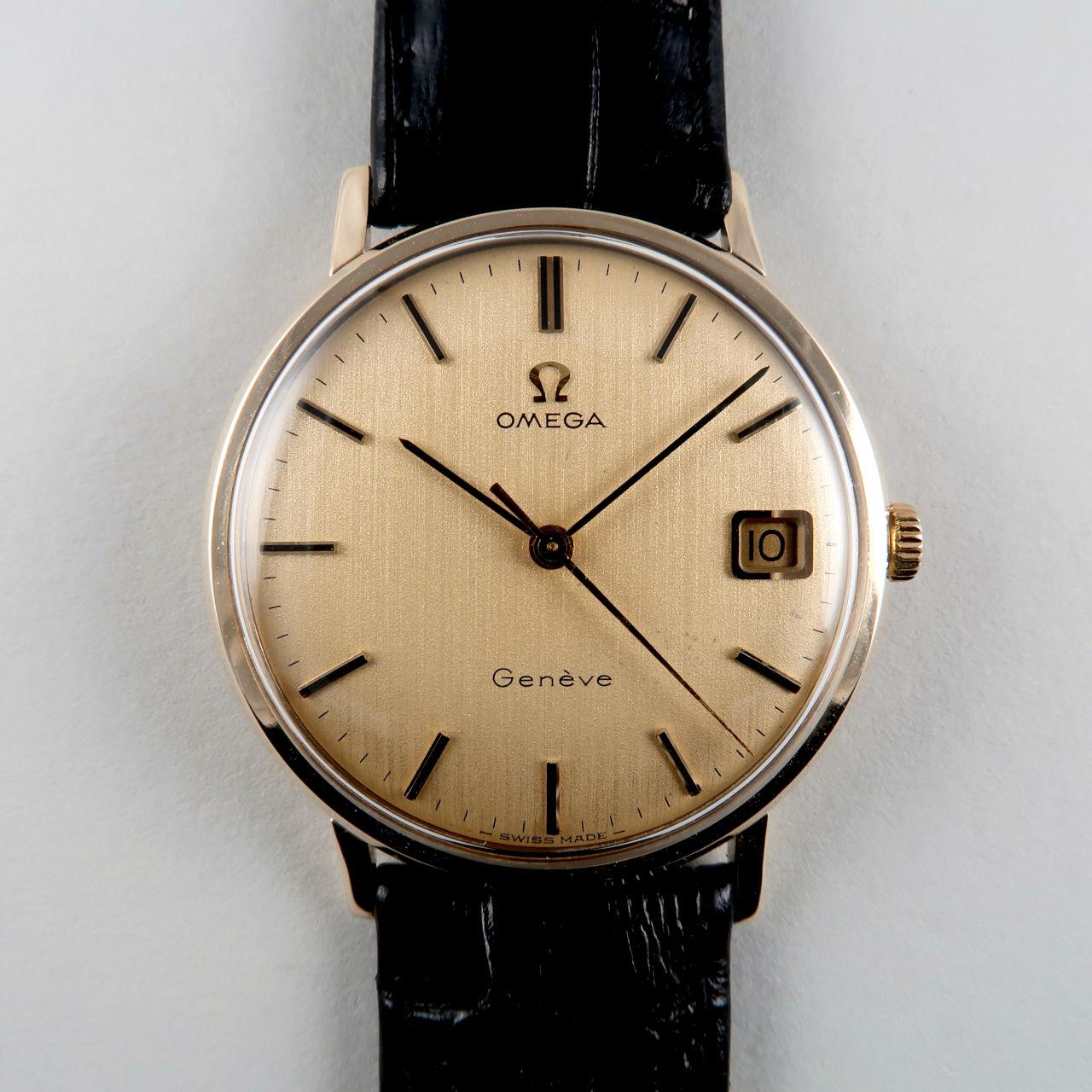 Omega Genève Ref. 131.5016 hallmarked 1973   9ct gold hand wound vintage wristwatch