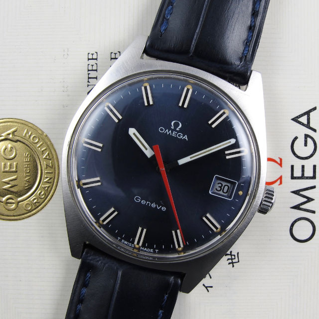 Omega Genève Ref. 136.041 steel vintage wristwatch, sold in 1969