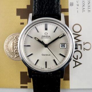 Omega Genève Ref. 166.0163 steel vintage wristwatch, sold in 1976