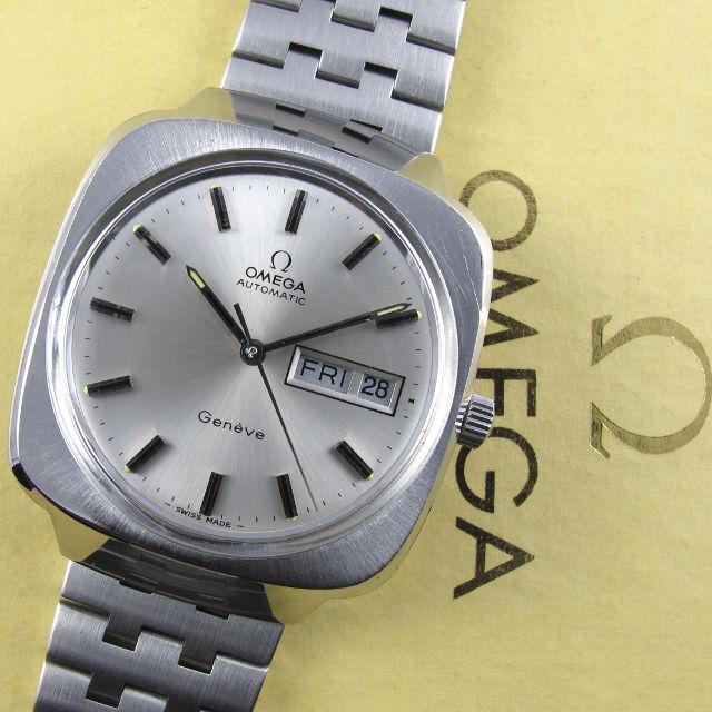 Omega Genève Ref. 166.0170 steel vintage wristwatch, circa 1975