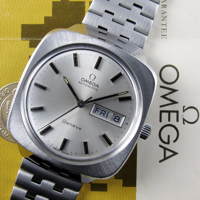 Omega Genève Ref. 166.0170 steel vintage wristwatch, sold in 1977