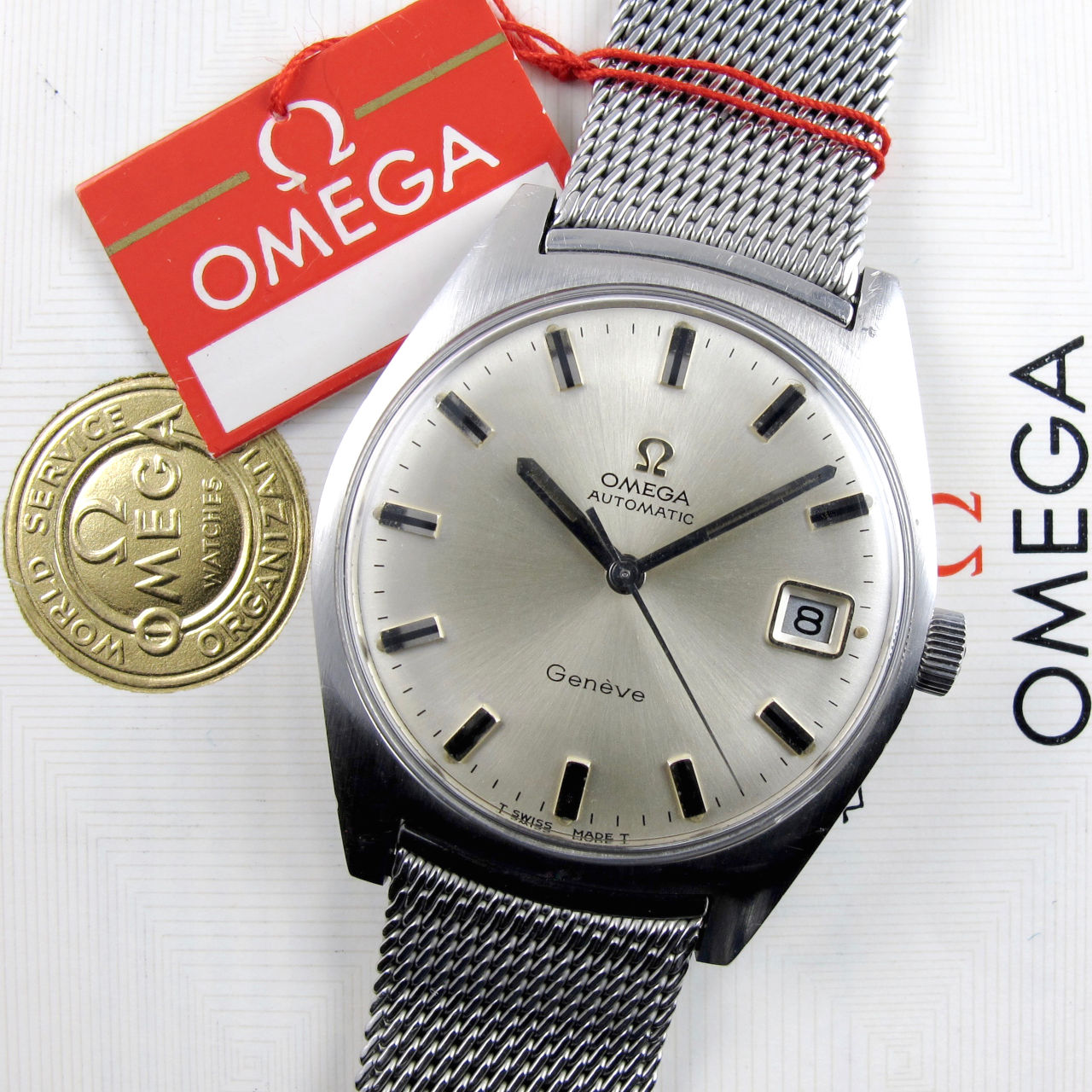 Omega Genève Ref. 166.041 steel vintage wristwatch, sold in 1969