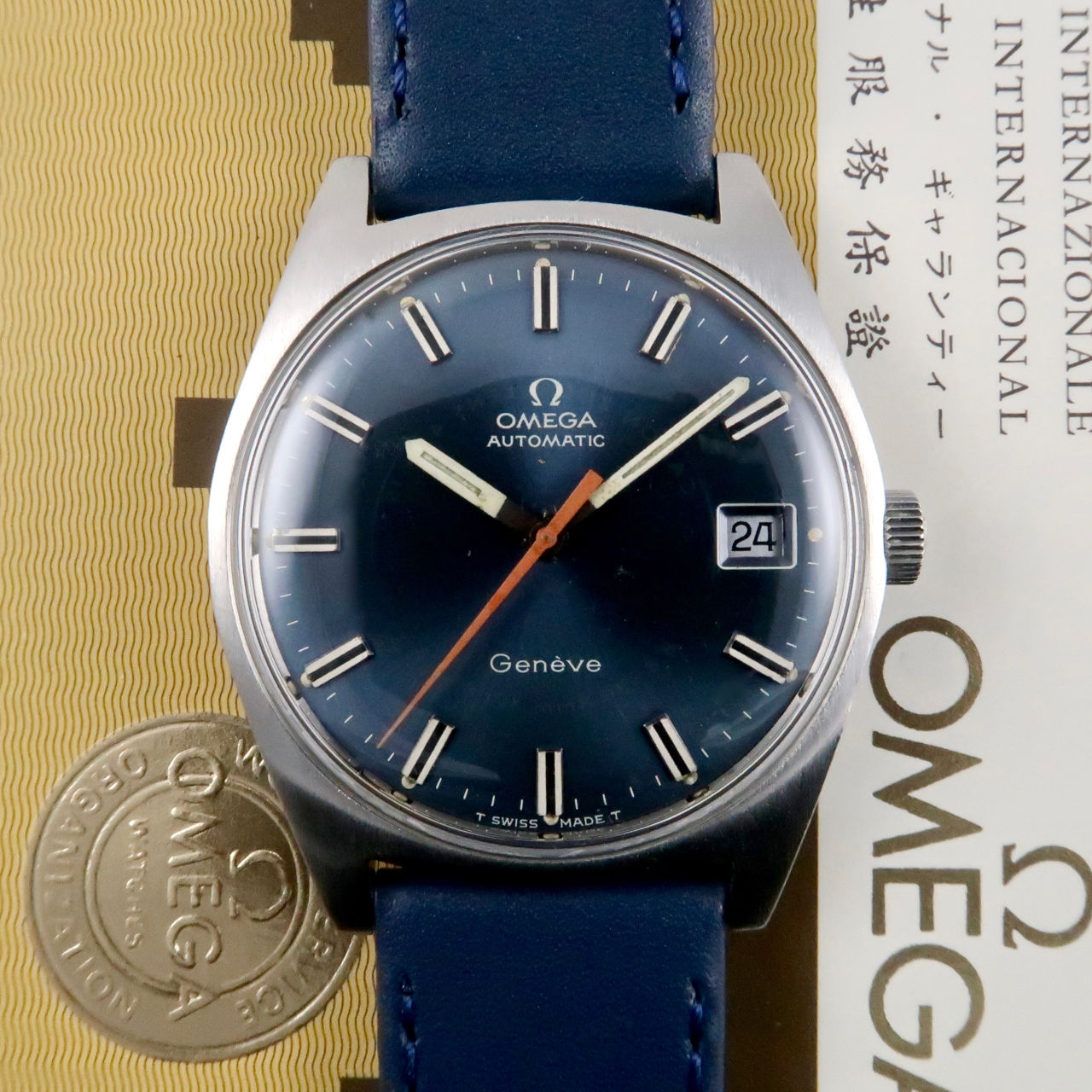 Omega Genève Ref. 166.041 steel vintage wristwatch, sold in 1970
