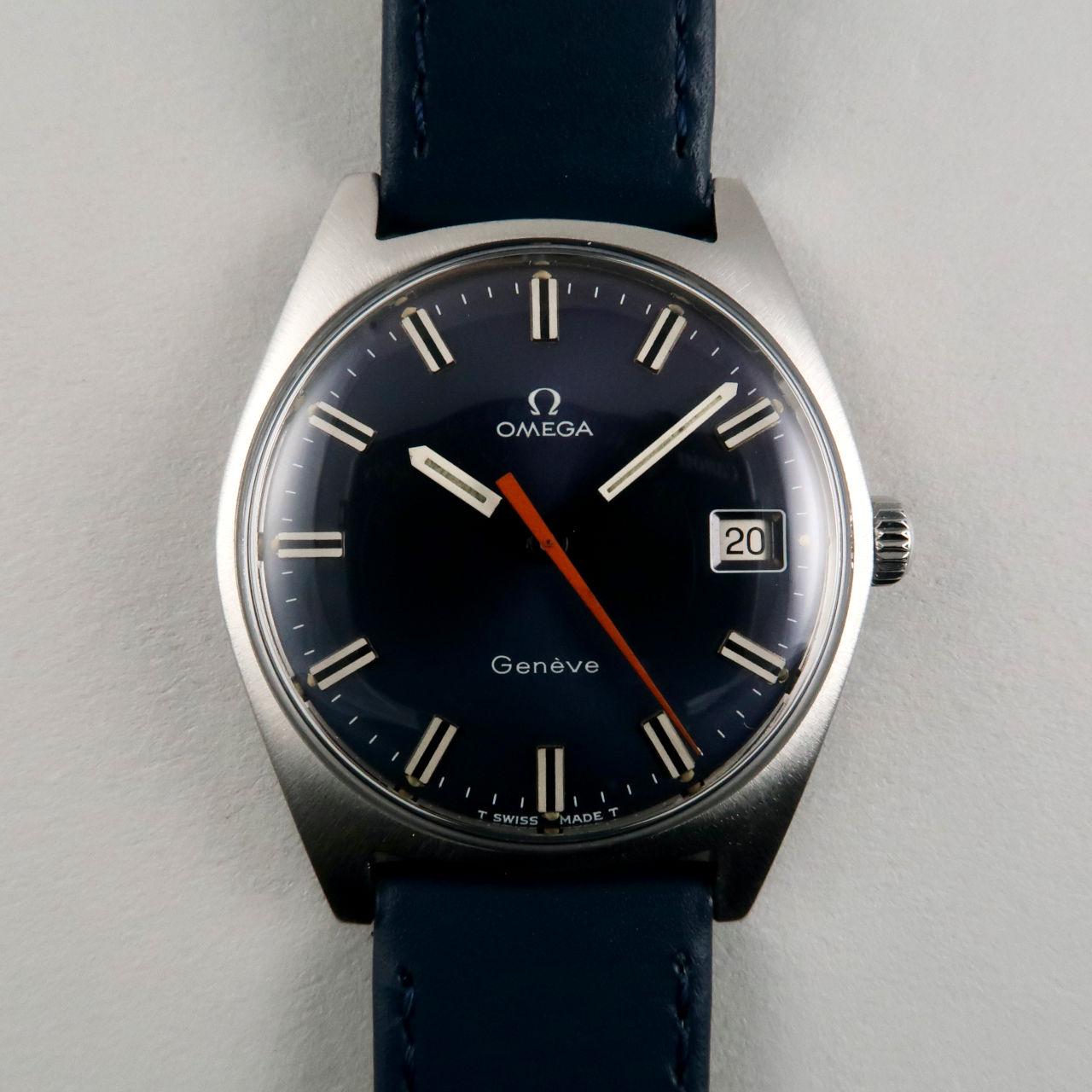 Omega Genève Ref. 136.041 circa 1968 blue dial