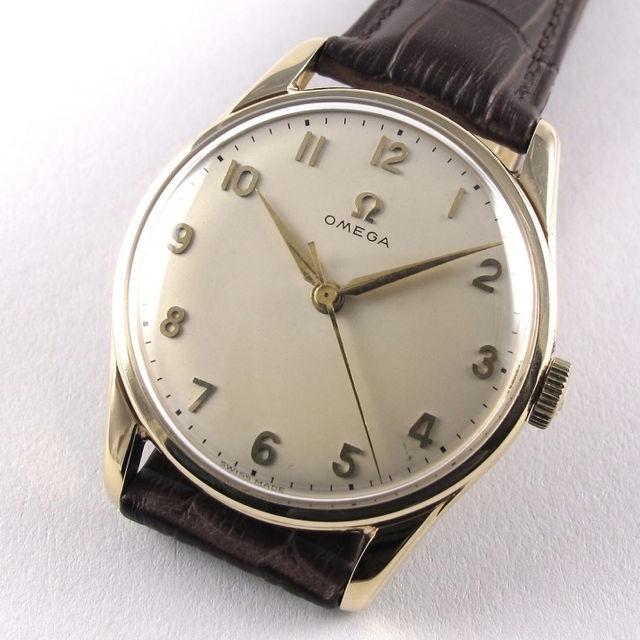 gold omega vintage wristwatch hallmarked 1959