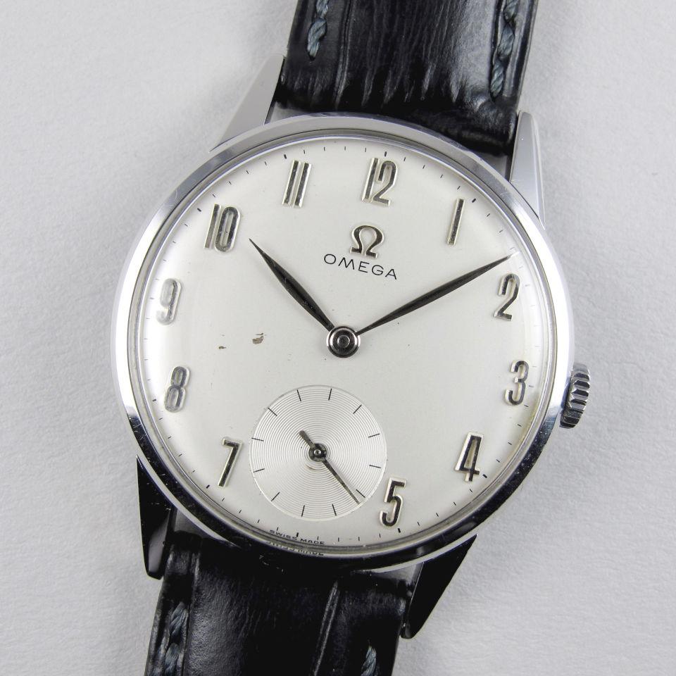 Omega Ref. 121.001 -64 steel vintage wristwatch, circa 1964