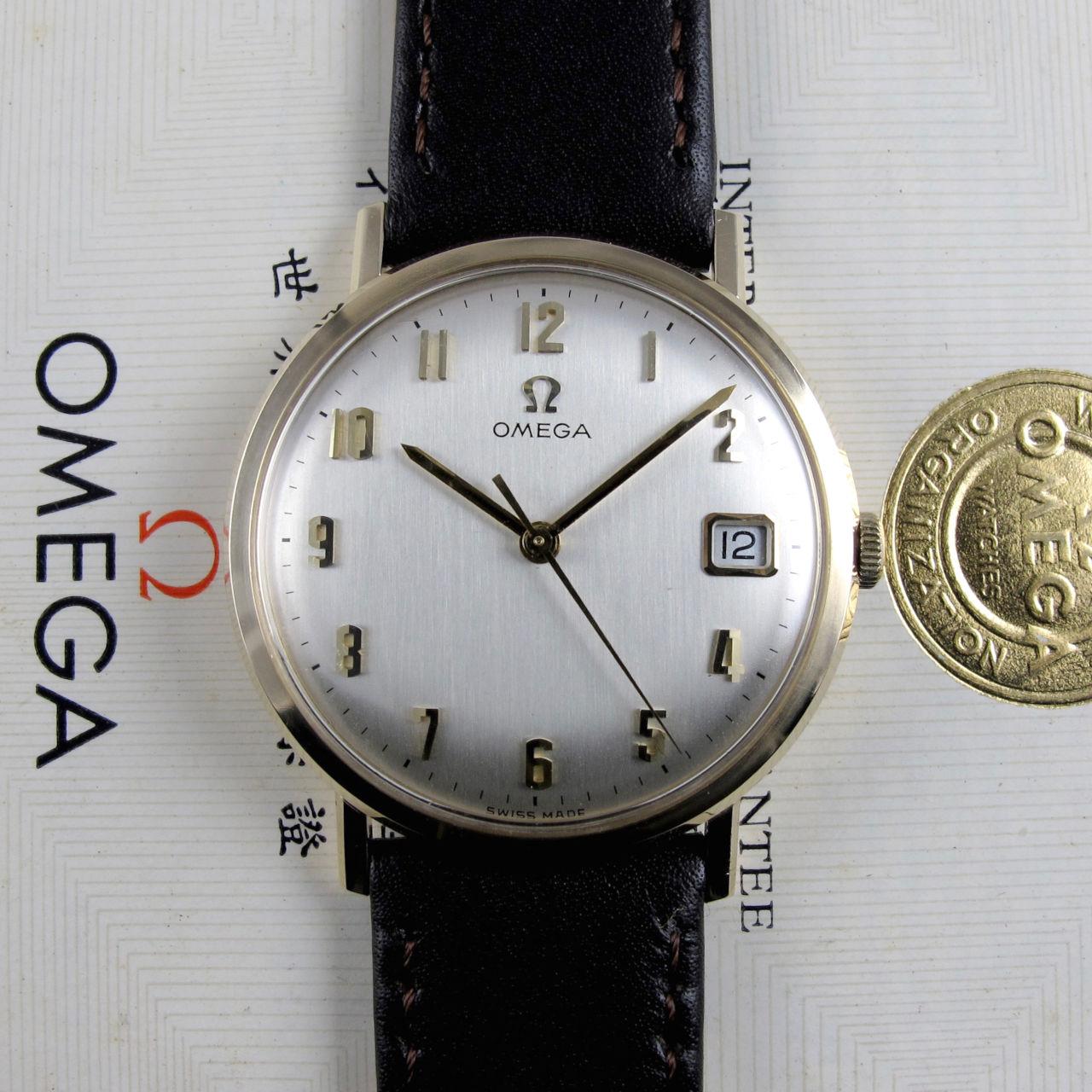 Omega Ref. 131.25016 gold vintage wristwatch, hallmarked 1967