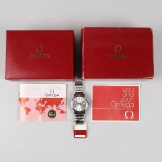 Omega Ref. 1360.0104 sold in 1981   full set steel manual vintage wristwatch