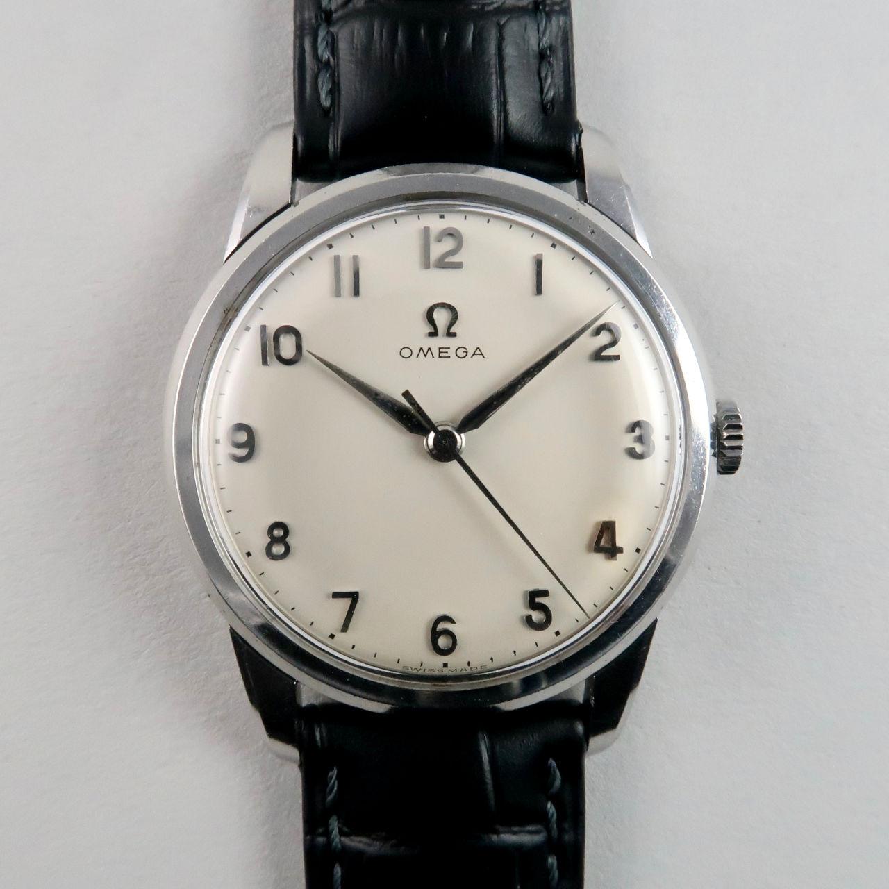 Omega Ref. 14726 -1 SC steel vintage wristwatch, circa 1959