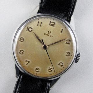 Omega Ref. 2496 -1 steel vintage wristwatch, circa 1949