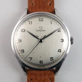 Omega Ref.2506 -2 oversized steel vintage wristwatch, circa 1948