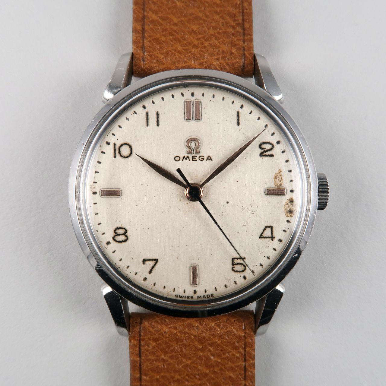 Omega Ref. 2613 -2 circa 1949   steel manually wound wristwatch