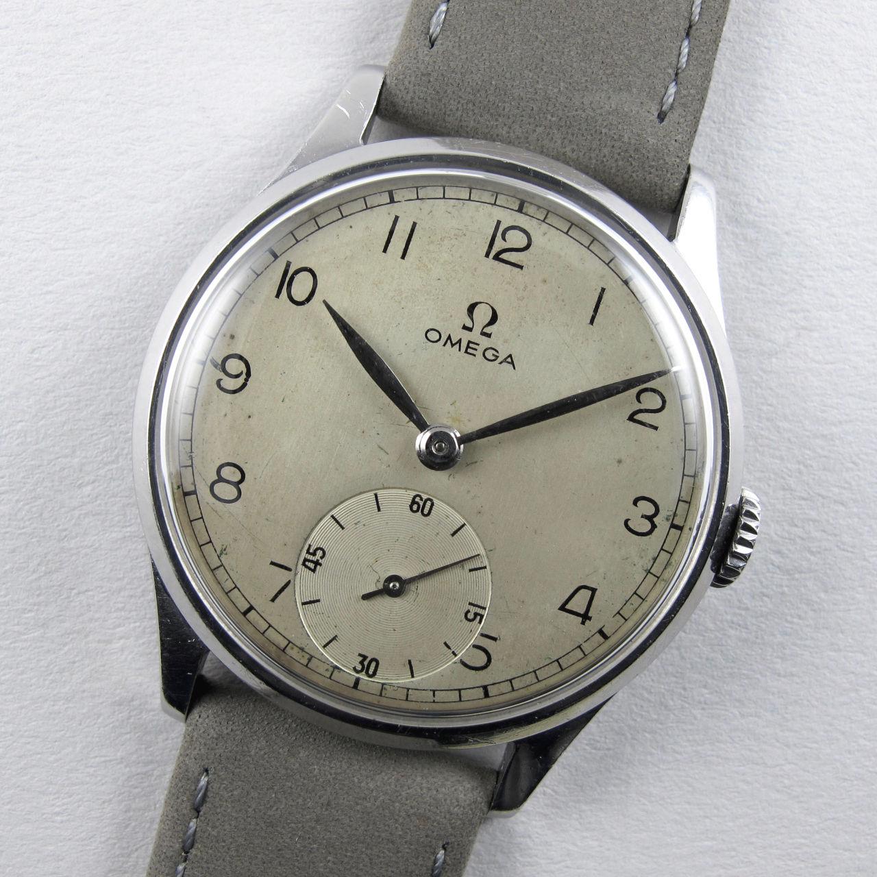 Omega Ref. 720 steel vintage wristwatch, circa 1947