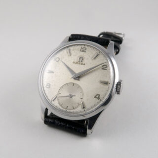 Omega Ref. 720 circa 1950   steel manual vintage wristwatch