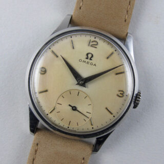 Omega Ref. 720 steel vintage wristwatch, circa 1951