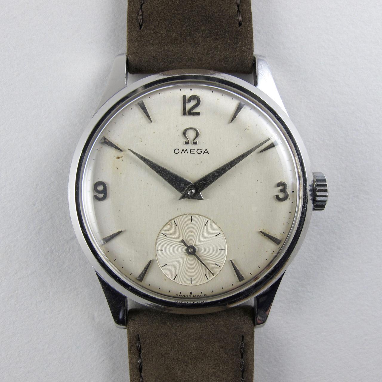 Omega Ref. 720 steel vintage wristwatch, circa 1952
