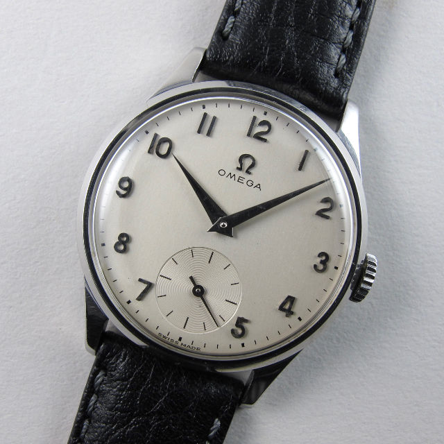 Omega Ref. 720 steel vintage wristwatch, circa 1955