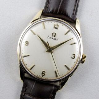 Omega Ref. 928 gold vintage wristwatch, hallmarked 1960