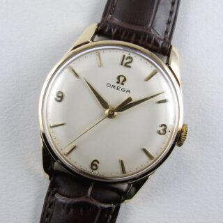 Omega Ref. 928 gold vintage wristwatch, hallmarked 1961