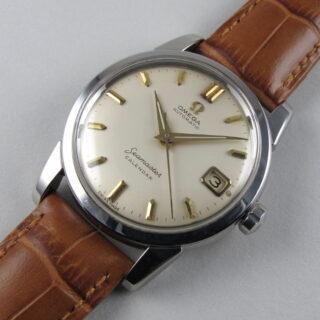 Steel Omega Seamaster Calendar Ref. 2849 -11 vintage wristwatch, circa 1959