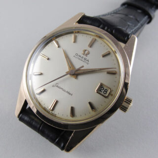 Omega Seamaster Ref. 14701 -4 pink gold capped and steel vintage wristwatch, circa 1961