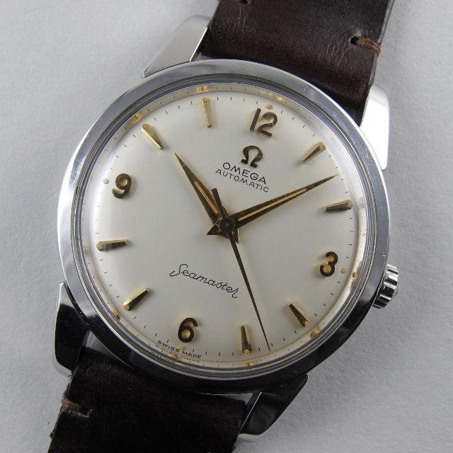 Steel Omega Seamaster Ref. 14761 vintage wristwatch, circa
