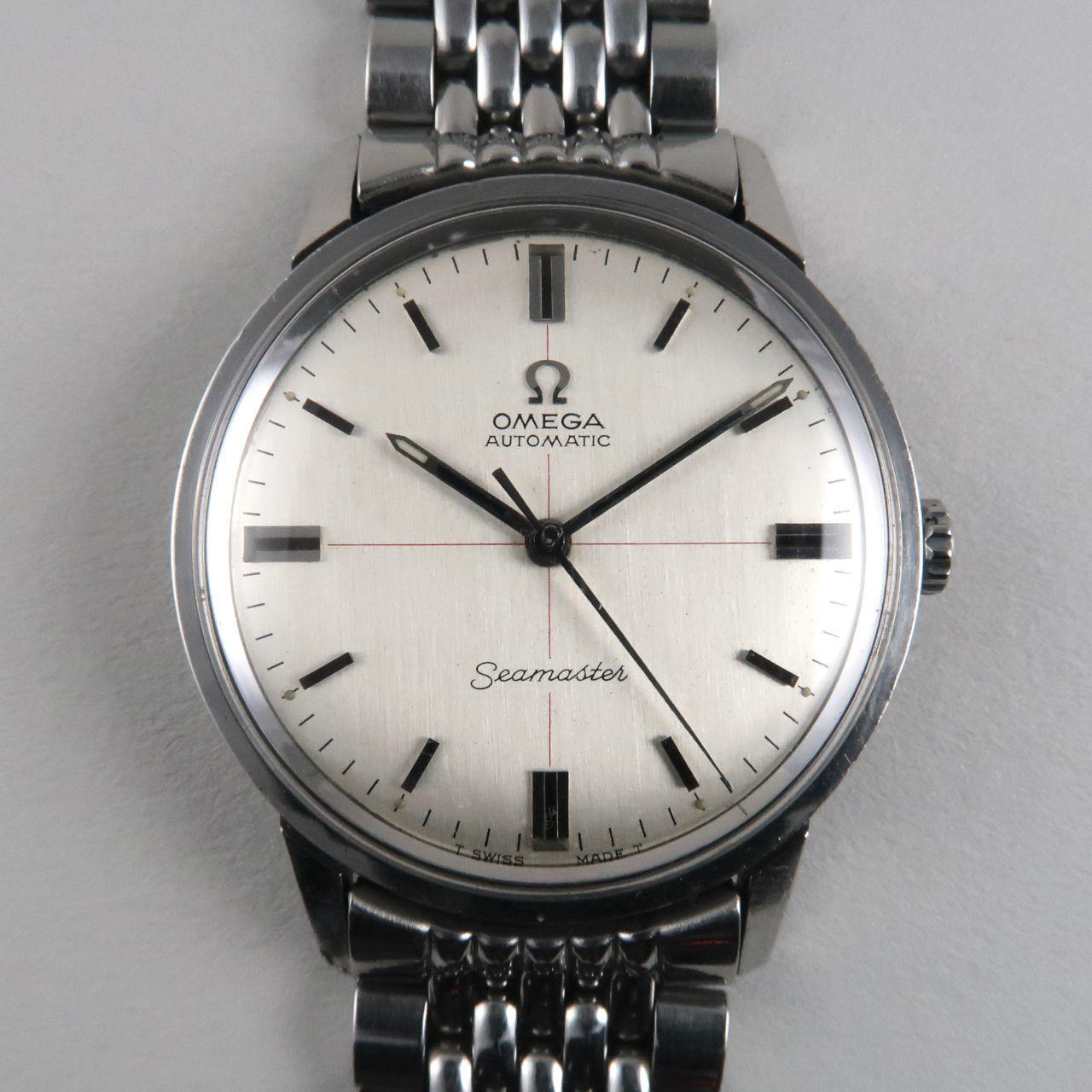 Omega Seamaster Ref.165.002 steel vintage wristwatch, circa 1966