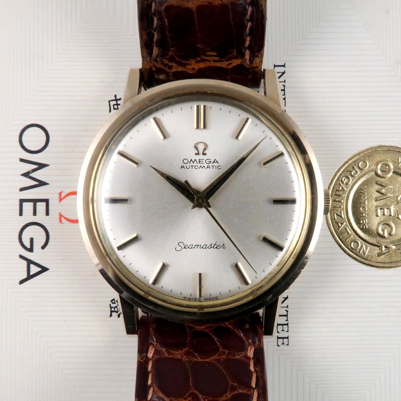 Omega Seamaster Ref.165.65003 9ct gold vintage wristwatch, hallmarked 1965