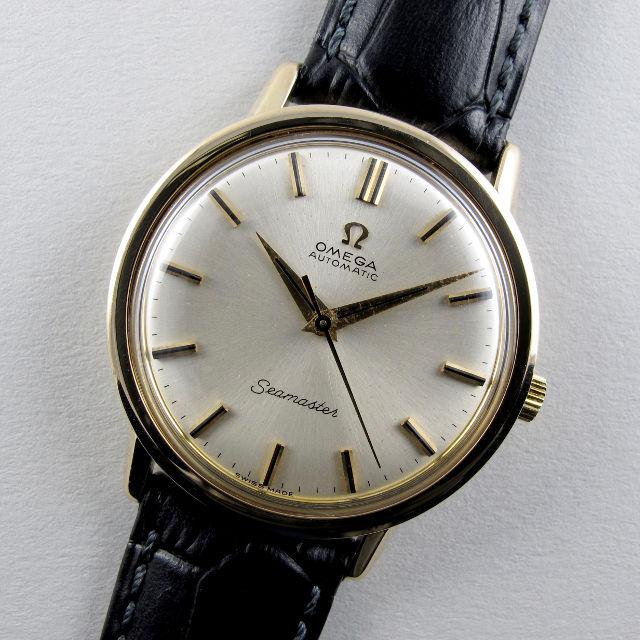 Omega Seamaster Ref. 165.65003 9k gold vintage wristwatch, hallmarked 1964