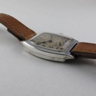 Omega silver vintage wristwatch, circa 1925