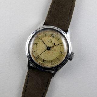 Omega steel vintage wristwatch, circa 1940