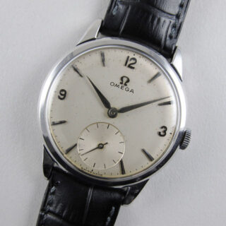 Omega steel vintage wristwatch, circa 1959