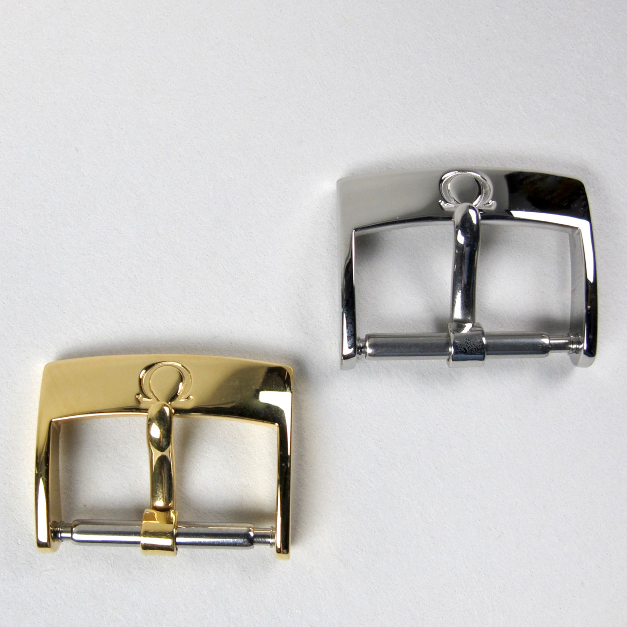 Omega wristwatch strap buckles