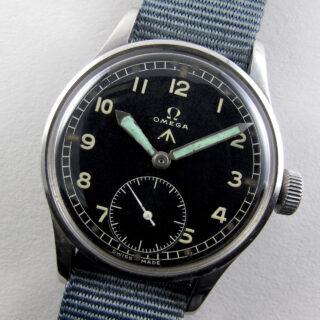 Omega WWW military steel vintage wristwatch, circa 1945