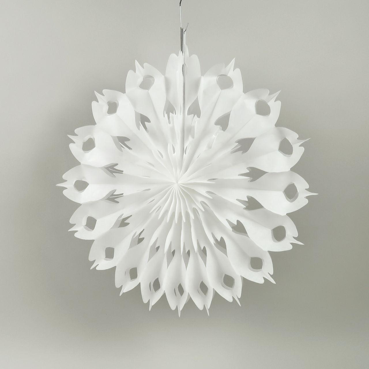 Heart Snowflake Paper Decoration - 40cm